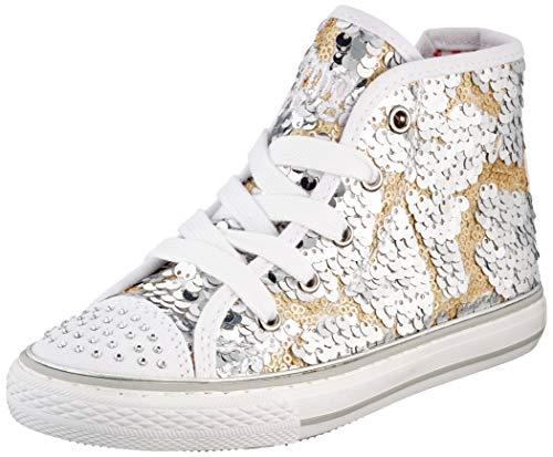 PRIMIGI Mädchen ALTA Bambina Hohe Sneaker, Silber (Argento-ORO 5457855), 26 EU