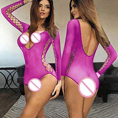 MEN.CLOTHING-LEE Corss para Mujer Conjuntos de lencera para Mujer Lencera Sexy Porno Babydoll Disfraz Sexy Lenceria Erotica Mujer Sexi Lencera Sexy Ropa de Dormir ertica Caliente-Rosa
