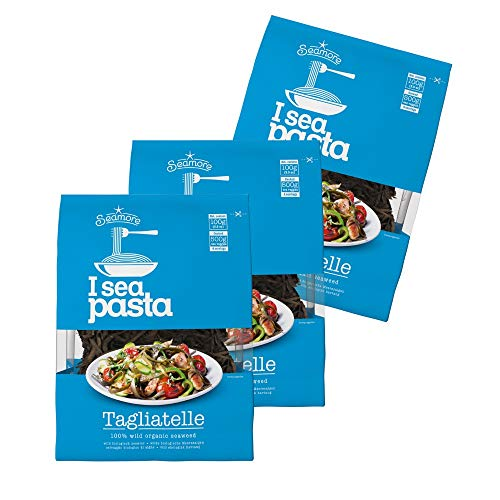 Seamore - Seaweed Pasta - 3 x 100g | hochwertige Algennudeln | bio, vegan, glutenfrei, nachhaltig