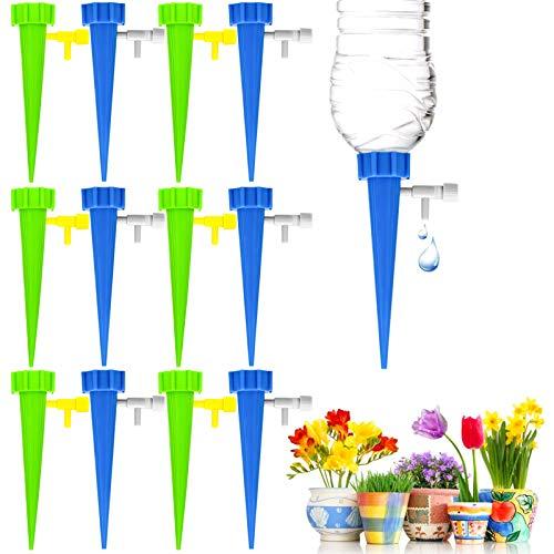 Jusduit Bewässerungssystem, 12 Stück Automatisch Bewässerung Set Instellbar Automatische Pflanzen Bewässerungssystem,Einfaches Zum Gießen von Gartenpflanzen Blumen Zimmerpflanzen Bewässerung Urlaub