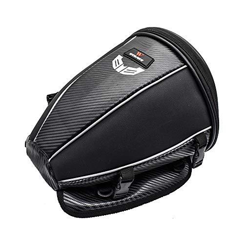 WOSAWE - Bolsa Impermeable de Viaje para Asiento de Moto Trasero, multifunción, Piel sintética, Mochila de Almacenamiento (15 litros)