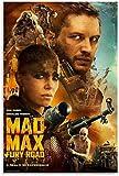 Hesuz Bild Auf Leinwand 50x70cm Kein Rahmen Mad Max Fury