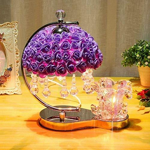 Luyshts Lámpara de escritorio de dormitorio lámpara de mesa creativa luz cálida romántica cálida regulable de la boda lámpara de mesa