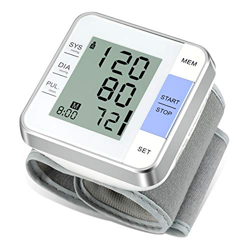 Vlllik Automatic Wrist Blood Pressure Cuff Monitor can detect arrhythmia, Monitor Pulse Rate, Read Readings Quickly and accurately, Voice Broadcast, 2 User Modes, 198 Groups of Memory. Monitors Wrist