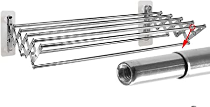 Towel Rack Variable Length Two-Way Telescopic Retractable Folding Wall Hanger Hanging Towel Holder Corrosion Resistant Sta...