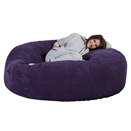Lounge Pug®, 'Mega-Mammoth' Sofa Sitzsack XXL, Schlafsofa, Pom-Pom Lila
