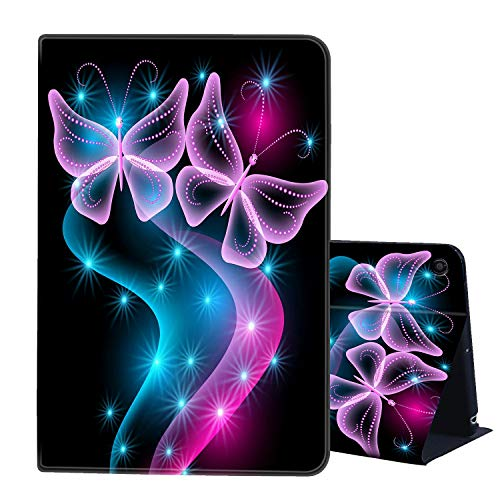 Fire HD 10 Case 10.1'' Tablet Case (2019/2017,9th/7th Gen),AIRWEE Ultra Slim PU Leather Multi Angle Folio Stand Smart Cover Cases for All New Amazon Kindle Fire HD 10,Beautiful Butterfly