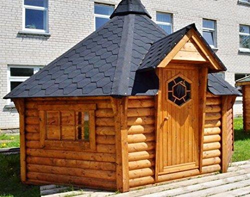 JUNIT GKF14901 14,9 m2 Grillkota, Fichte für ca. 14 Personen