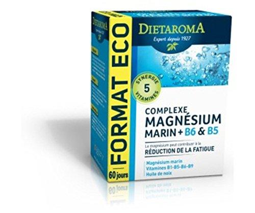 Magnésium B6 B5 Complexe Format ECO Diétaroma - 120 Capsules