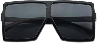 Big XL Large Oversized Super Flat Top Square Two Tone Color Fashion Sunglasses