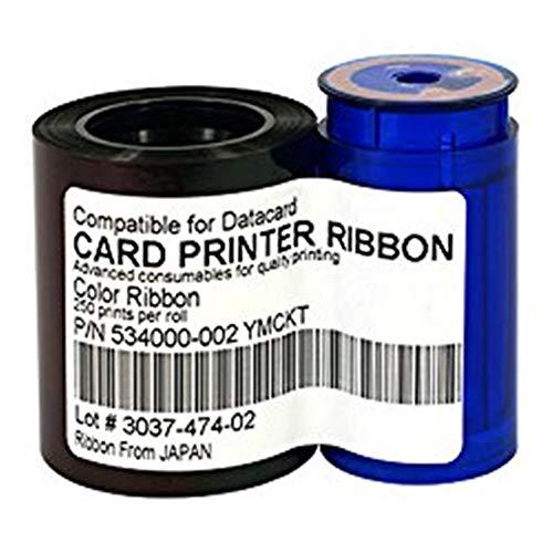 534000-002 Farbband für Datacard SD260 SD360 SP25 SP35 SP55 SP75 Plus-Kartendrucker 534000-002 Kompatibel mit YMCKT-Farbband 250 Bildern