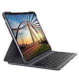 Logitech SLIM FOLIO PRO - Funda con teclado Bluetooth retroiluminado, para iPad Pro de 11 pulgadas (1.ª y 2.ª generación), Color Gris