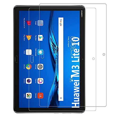 KATUMO® [2Pack Huawei MediaPad M3Lite 10Protector de Pantalla de Cristal Templado Screen Protector Film Ultra Resistente, para Huawei MediaPad M3Lite 10.0