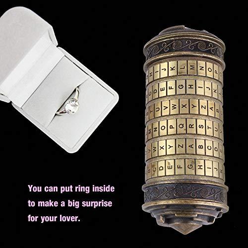 Hongzer Da Vinci Code Cryptex Lock, Da Vinci Code Cryptex Combination Lock Romantic Gift with Accessories, Cylinder Lock Da Vinci Code Alphabet Lock