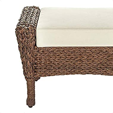 Woolford Outdoor Ottoman with Cushion, Cushions Included: Yes, Overall: 19.69'' H x 29.13'' W x 17.32'&#3
