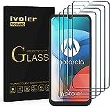 ivoler 4X Panzerglas Schutzfolie für Nokia G10 / G20 / Motorola E7 / E7 Power / E7i Power/Realme 7i / 6i / 5i / 5 / C3 / C11 / C21 / Narzo 30A / Vivo Y11s / Y20s / Wiko View 4 / Samsung Galaxy A90