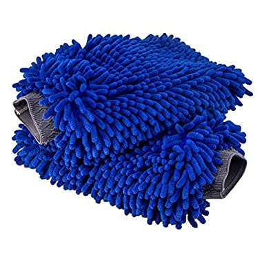 Relentless Drive Ultimate Car Wash Mitt - 2 pack Extra Large Size - Premium Chenille Microfiber Wash Mitt - Wash Glove - Lint Free - Scratch Free