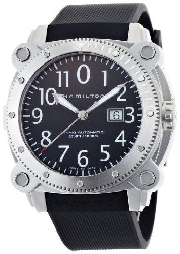Hamilton Men's H78515333 Khaki Navy BelowZero Black Dial Watch