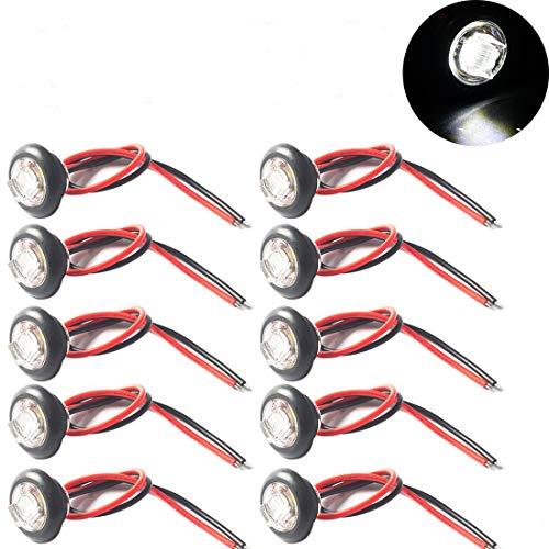 LED Seitenmarkierungsleuchte Abstand Licht Gute Qualität Seitenmarkierung Licht 12V/24V für Anhänger, LKW (Weiß)