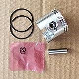 Pieza de repuesto para kit de pistón MC de 34 mm para Zenoah Komatsu G2500 G2500TS 2500 Conjunto de cilindro 25CC Mini motosierra Zylinder Ring Pin Cir Clips Assy - (Tipo: Doble anillo de pistón)