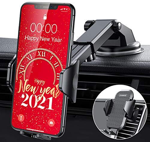 VANMASS Handyhalterung Auto kfz Handyhalterung auf Armaturenbrett Windschutzscheibe Lüftung 2021 Smartphone Halter Universal für iPhone 12/12 Pro/11 Samsung S20/ S10 Huawei Xiaomi LG usw