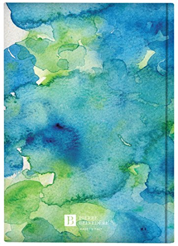 Pierre Belvedere Plateau Collection A5 Hardcover Notebook with Printed Padded Cover, Aquarelle Blue (7706160) Photo #2