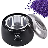 waxkiss Wax Warmer, Digital Wax Warmer for Professional Hair Removal with See-Through Lid and 14oz Pot…