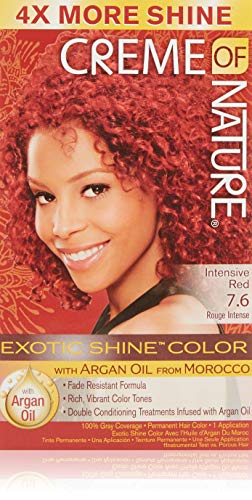 Creme of Nature Exotic Shine Color With Argan Oil, Intensive Red 7.6, 1 ea (Pack of 3)