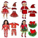Fossen Kids 4 piezas Ropa de Muñecas Reborn 45 cm Mono Muñeca para New Born Baby Doll 18', Mameluco para Muñecas Regalos Juguetes Niñas (Navidad)
