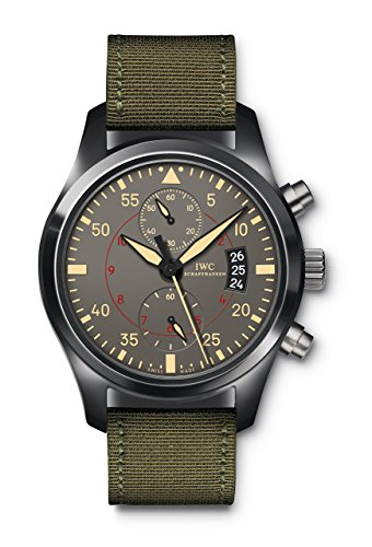 IWC Men's Swiss Automatic Watch with Stainless Steel Strap, Black (Model: IW388002)