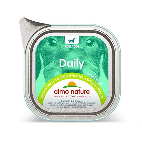 almo nature, Cibo Umido Senza glutine con Vitello e Carote per Cani Adulti, Confezione da 32 vassoi da 100 g, 100% riciclabili