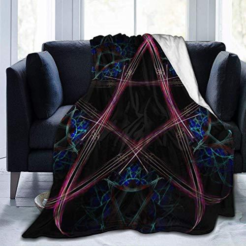 Moily Fayshow Yule Wicca Wiccan Star Pentagram Fleece Throw Blanket Franela Edredón Dormitorio Ropa de Cama Decoración 50 'X40'