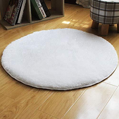New Water Grass Velvet Round Silk Wool Carpet Yoga Non-slip Mats Living Room Bedroom Full...