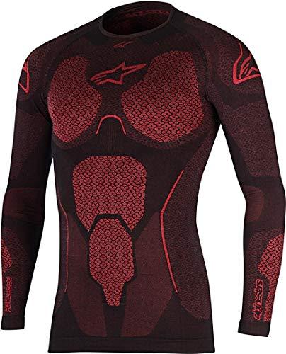 Alpinestars Ride Tech Top manches longues, été, noir et rouge, XXL