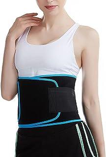 الخصر المتقلب للنساء التخسيس الجسم المشكل حزام ملابس داخلية للتجريب الرياضة حزام حزام (Color : Blue, Size : One size)