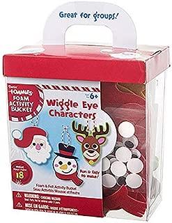 Christmas Wiggle Eye Character Foam and Felt Ornament Craft Kit- Makes 18