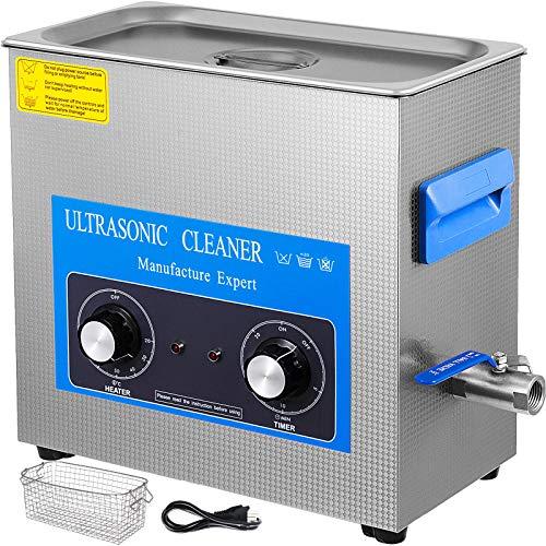GloWiss 22L Knob Control Ultrasonic Cleaner 40KHZ 480W Edelstahl Ultraschallreinigungsgerät Ultraschallreiniger Ultraschall Gerät mit Heizung Timer for Glasses Jewellery