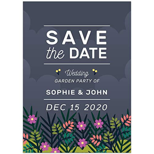 Garden Party Save the Date Card Wedding Invitation