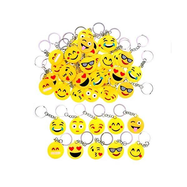 JZK 50 x Llavero Emoji llaveritos Emoticon Colgante decoración Bolsos Mochilas y Llaves regalitos Regalo Fiesta…