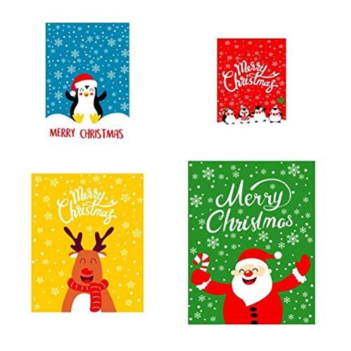 Auplew 30 unidades de bolsas de regalo con cordón reutilizables, resistentes y prácticas bolsas de regalo de Navidad, con cordón para regalos