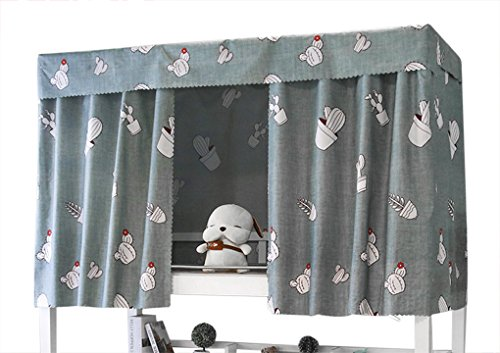 JIAHG Students Dormitory Bunk Bed Curtains Single Bed Tent Curtain Shading Nets Cloth Bed Canopy Mosquito Protection Net Bedroom Cabin Decor Blackout Curtains (Gray, 1.2M x 2M (2 Piece Included))