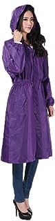 ZEMIN ポンチョ レインウェア スリッカー ウインドブレーカー 防水 カバー 女性 自己栽培 ファッション ポリエステル、 M、 使用可能な2色 (色 : PURPLE, サイズ さいず : M)