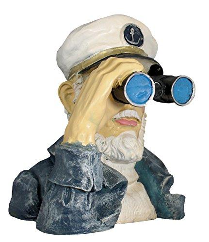colourliving Dekofigur Seemann mit Fernglas,Spanner Deko für Innen und Außen, Garten Dekoration