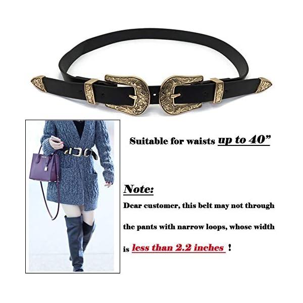 Western Vintage Style Genuine Leather Belt 3