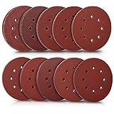 412 Paquete de 10 discos de lija de 180 mm de calidad MIRKA con gancho y lazo P40