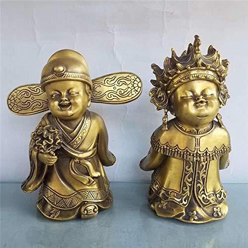 Esculturas Ornamentosadornos De Figuras De Matrimonio Estatuas De Bronce De Cobre Puro...