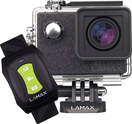 Lamax X3.1 ActionCam, Sportkamera mit 160° Weitwinkel, 4K Aufnahmen mit Timelapse, wasserdicht bis 30m, WLAN, Fernbedienung als Armband