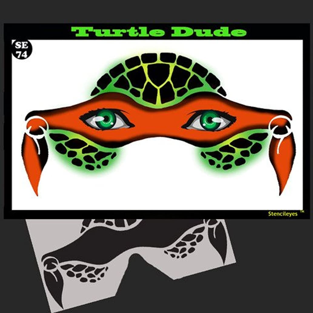 Face Painting Stencil - StencilEyes Turtle Dude - Heroic Turtle Mask
