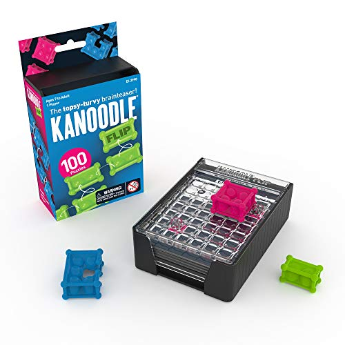 Educational Insights Kanoodle Flip - Puzzle Challenges, Brain Teaser, Logic Game for 7 to Adults