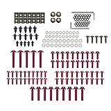 KKmoon Set di Bulloni, 194 Pezzi Bulloni per Carenatura da Moto Viti, Kit Carrozzeria Completo, Set di Elementi di Fissaggio (Rosso)